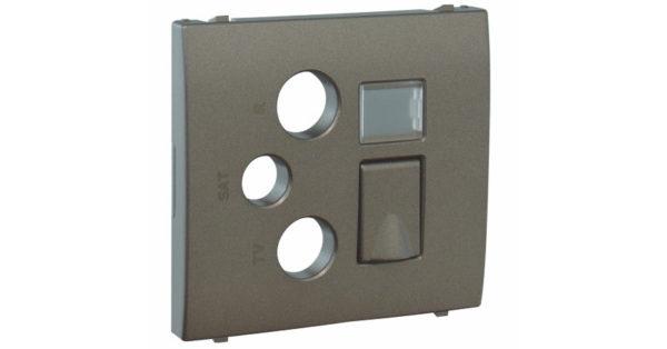 Лицевая панель Apolo 5000 для мультимедийных розеток R-TV-SAT-RJ45/R-TV-SAT-RJ45 – SC – графит 1