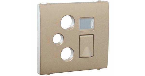 Лицевая панель Apolo 5000 для мультимедийных розеток R-TV-SAT-RJ45/R-TV-SAT-RJ45 – SC – платина 1