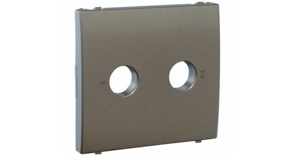 Лицевая панель Apolo 5000 для ТВ/Радио розеток – графит 1