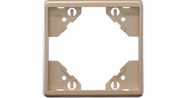 Одиночная рамка Apolo 5000 Metalized – платина 1