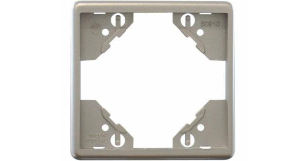 Одиночная рамка Apolo 5000 Metalized – серебро 1