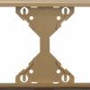 Горизонтальная двойная рамка Apolo 5000 Metalized - шампань