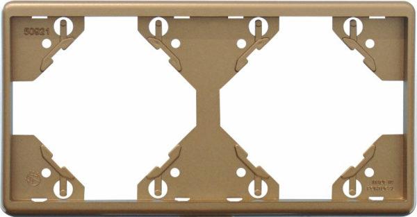 Горизонтальная двойная рамка Apolo 5000 Metalized – шампань 1