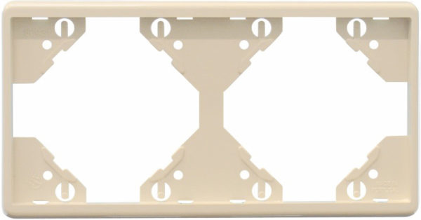 Горизонтальная двойная рамка Apolo 5000 Standard – бежевая 1