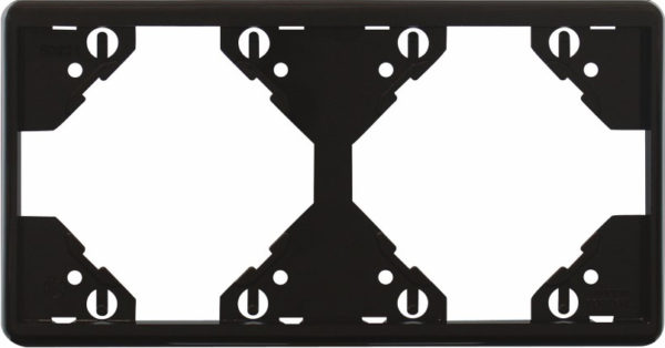 Горизонтальная двойная рамка Apolo 5000 Standard – чёрная 1
