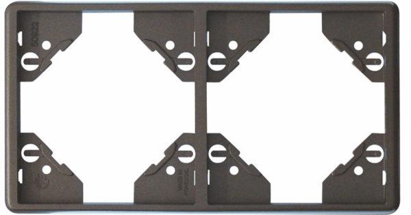 Вертикальная двойная рамка Apolo 5000 Metalized – графит 1