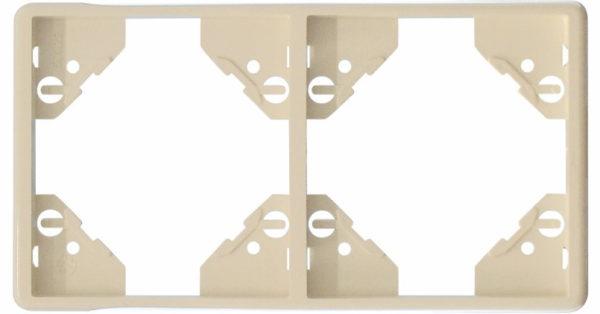 Вертикальная двойная рамка Apolo 5000 Standard – бежевая 1