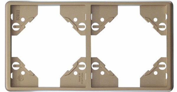 Вертикальная двойная рамка Apolo 5000 Metalized – платина 1