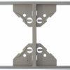 Вертикальная двойная рамка Apolo 5000 Metalized - серебро