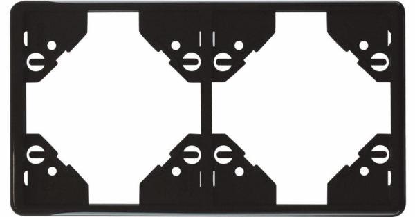 Вертикальная двойная рамка Apolo 5000 Standard – чёрная 1