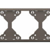Горизонтальная тройная рамка Apolo 5000 Metalized - графит