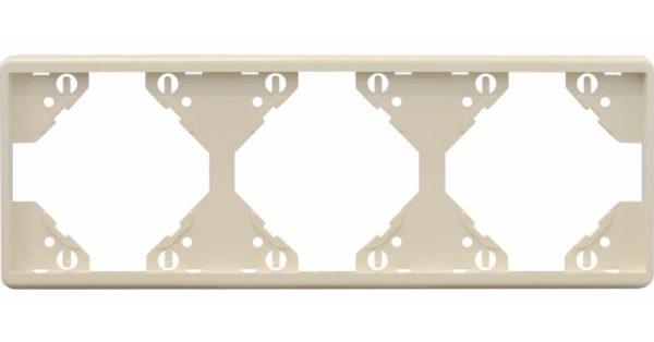 Горизонтальная тройная рамка Apolo 5000 Standard – бежевая  1
