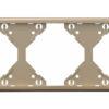 Горизонтальная тройная рамка Apolo 5000 Metalized - платина