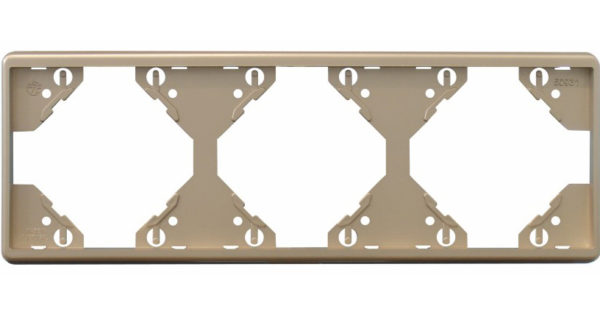 Горизонтальная тройная рамка Apolo 5000 Metalized – платина 1