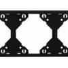 Горизонтальная тройная рамка Apolo 5000 Standard - чёрная