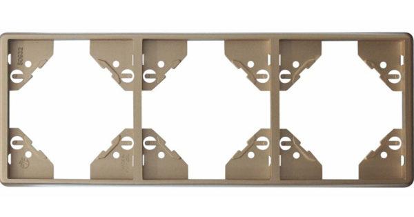 Вертикальная тройная рамка Apolo 5000 Metalized – платина 1