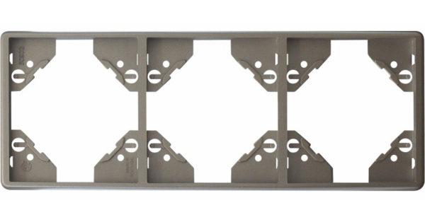 Вертикальная тройная рамка Apolo 5000 Metalized – серебро  1
