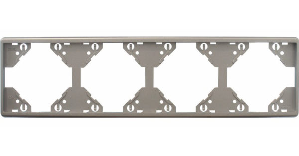 Горизонтальная 4-ная рамка Apolo 5000 Metalized – серебро 1