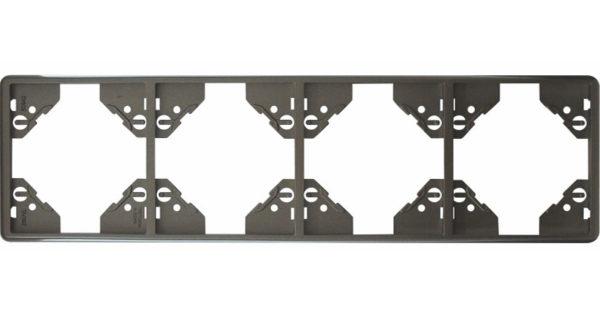 Вертикальная 4-ная рамка Apolo 5000 Metalized – графит 1