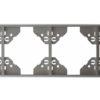 Вертикальная 4-ная рамка Apolo 5000 Metalized - серебро