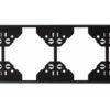 Вертикальная 4-ная  рамка Apolo 5000 Standard - чёрная