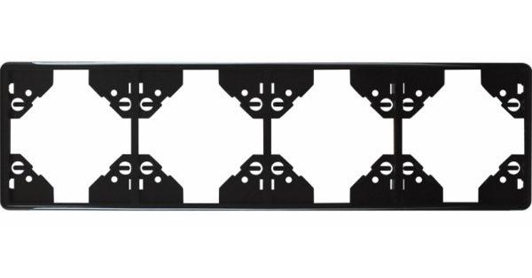 Вертикальная 4-ная  рамка Apolo 5000 Standard – чёрная 1