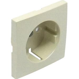 Лицевая панель для розетки 2к+з с защитными шторками Logus90