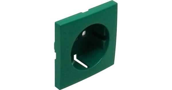 Лицевая панель для розетки 2к+з с защитными шторками Logus90 1