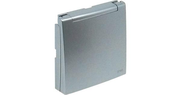 Лицевая панель для розетки 2к+З с защитной крышкой Logus90 1