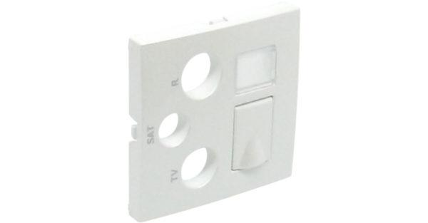 Лицевая панель для мультимедийных розеток R-TV-SAT-RJ45/R-TV-SAT-RJ45 – SC Logus90 1