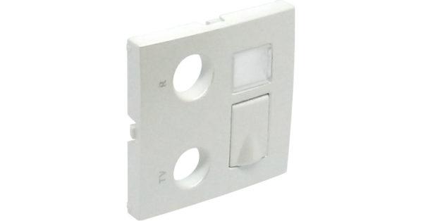 Лицевая панель для мультимедийных розток R-TV-RJ45/R-TV-RJ45-FO Logus90 1