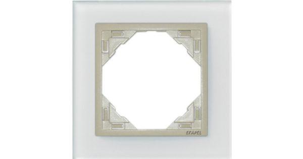 Одиночная рамка Logus90 Crystall 1