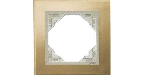 Одиночная рамка Logus90 Metallo 1