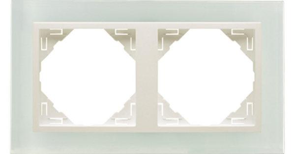 Двойная рамка Logus90 Crystall 1