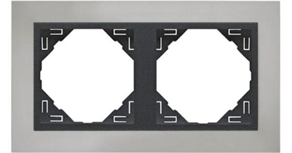Двойная рамка Logus90 Metallo 1