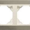 Двойная рамка Logus90 Metallo