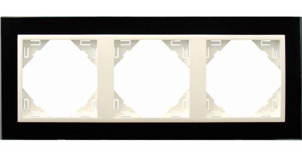 Тройная рамка Logus90 Crystall 1