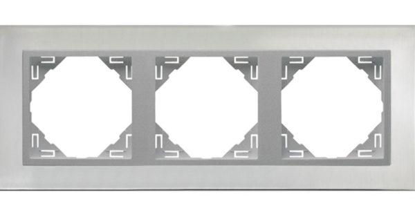 3-х местная рамка Logus90 Metallo 1