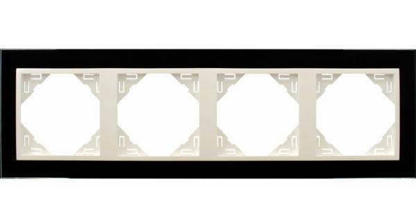 Четырехместная рамка Logus90 Crystall 1