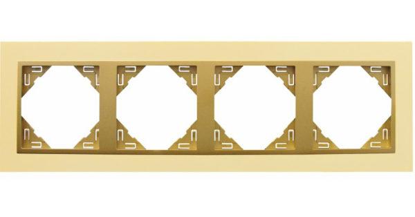 4-х местная рамка Logus90 Metallo 1